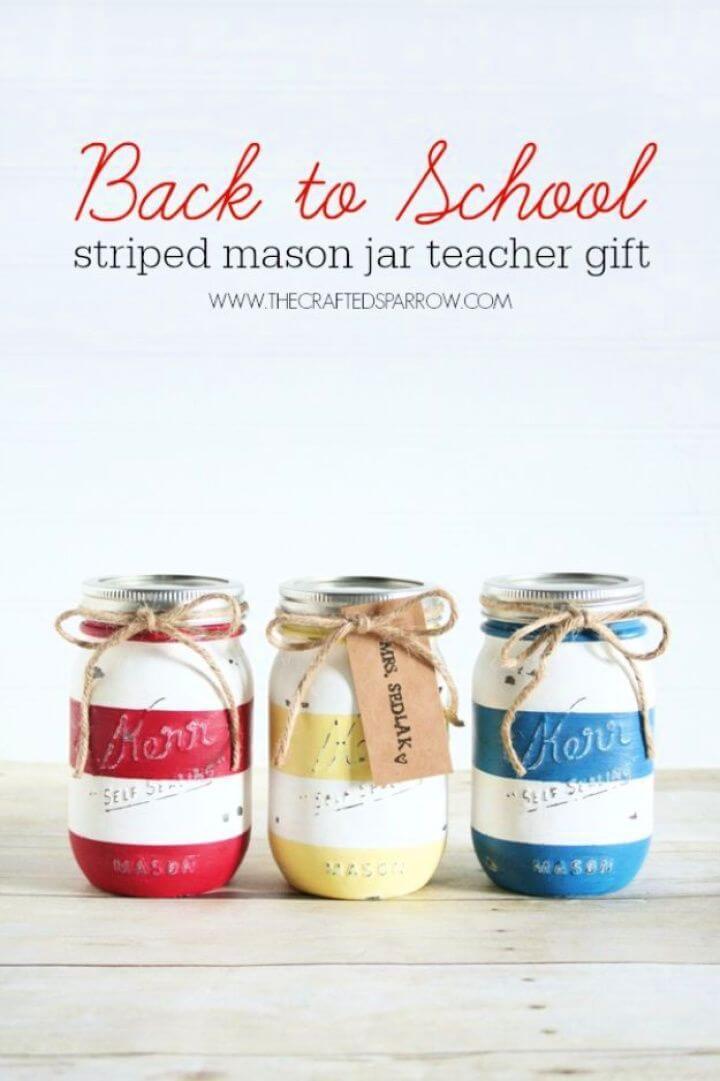 mason jar, pencil holder, school supplies