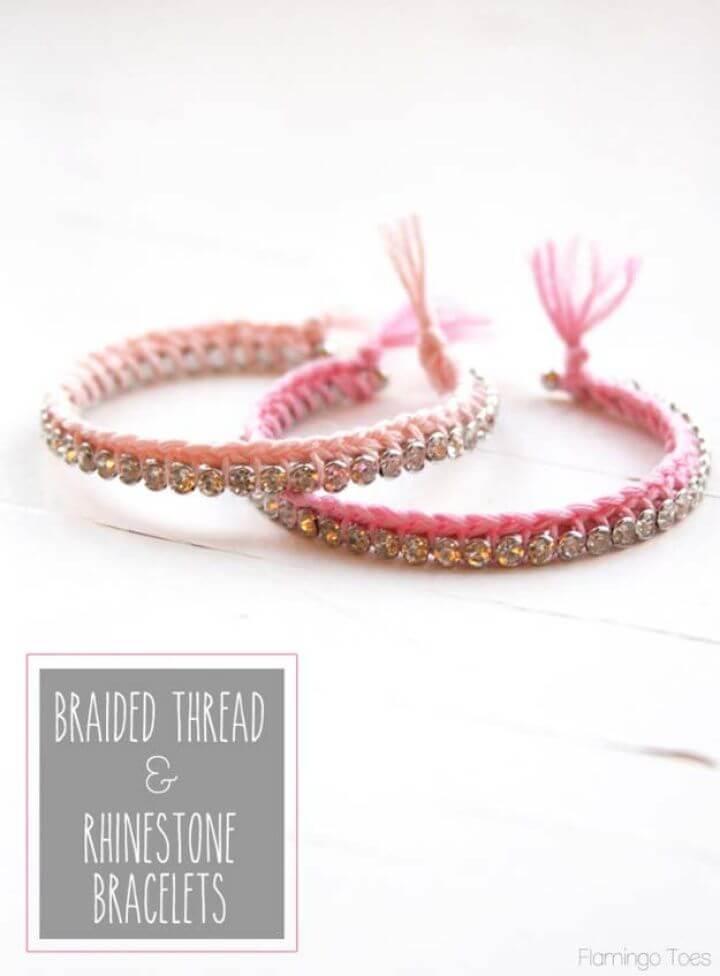 braided thread bracelets, diy jewelry ideas, crafts with jewelry, friendship bracelets