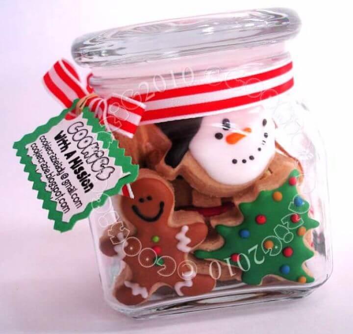 christmas cookies, mason jar, ideas, how to decor, home ideas