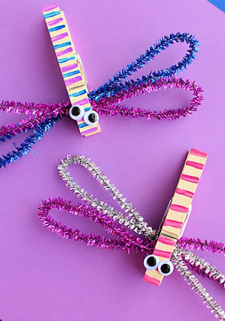 clothespin dragonflies, crafts for kids, how to crafts