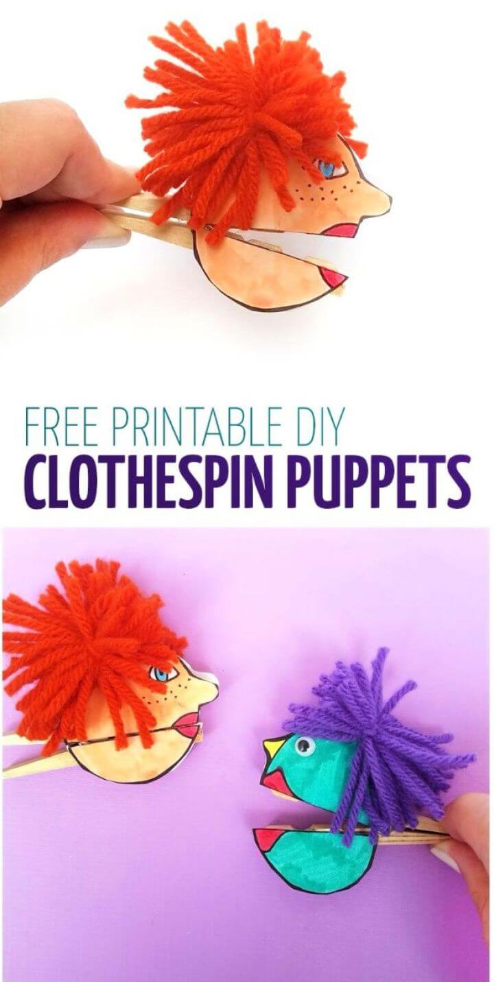 diy crafts, clothespin paper, puppet, crafts for girls, diy ideas, diy crafts and projects