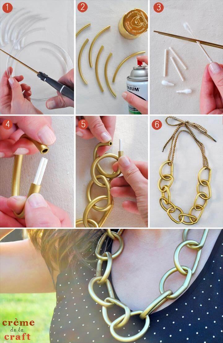 DIY Gold Chain Necklace, Diy Jewelry, Jewelry Making, Jewelery, Fashion Jewelry, Diy Fashion, Gold Jewelry, Gold Diy, Chunky Gold Necklaces, Imitation Jewelry,Crystal Necklace, Diy Jewelry Necklace, Diy Earrings, Beaded Necklace, Beaded Jewelry, Gold Diy, Jewelry Patterns, Diy Jewelry Tutorials, Jewelry Crafts,Diy Necklace, Diy Clothes, Handmade Jewelry, Jewelry Crafts, Beaded Jewelry, Colar Diy, Diy Tutorial, Diy Fashion, Jewelry Making,