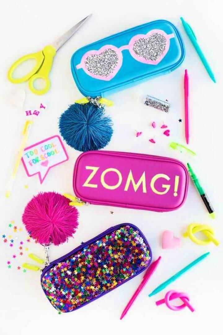 kids crafts, ideas for kids, diy ideas, diy school supplies, pencil case