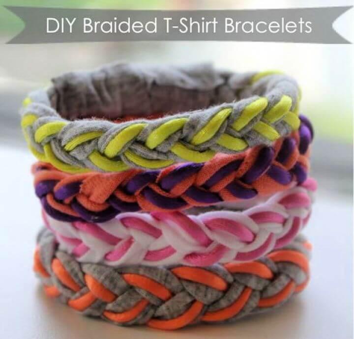 jewelry ideas, beaded bracelet, t-shirt bracelets, diy crafts, diy projects, how to