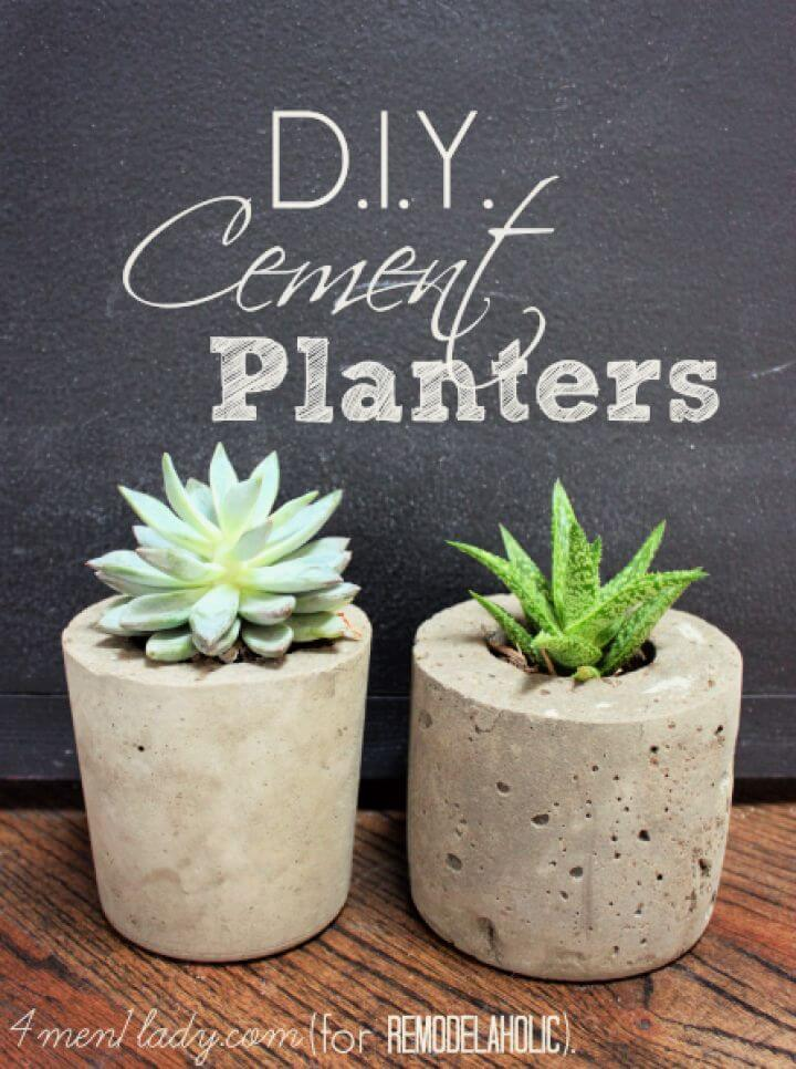 cement planter, for gifts, mother day gift, do it yourself, diy crafts and projects,