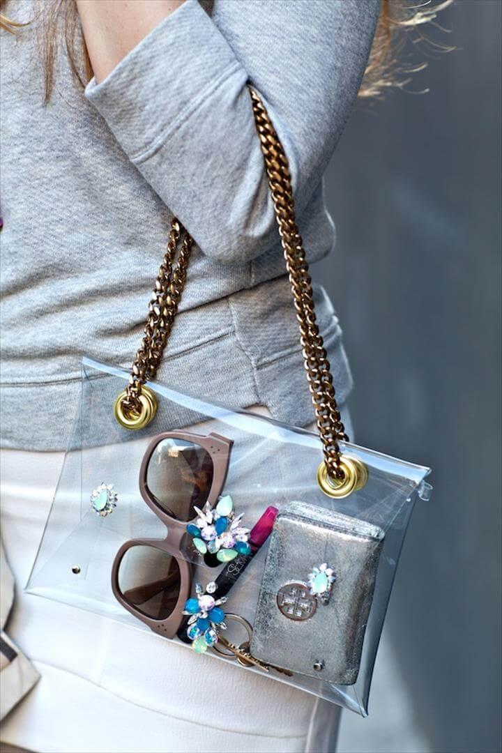 Diy Bags, Diy Purse Chain, Diy Purse Strap, Diy Bag Embellishments, Clear Handbags, Transparent Clutch, Custom Clutches, Nars Lip, Diy Fashion Accessories, Clutch Wallet, Whistles Tote Bags, Handmade Bags, Pencil Cases, Tote Bags, Diy Creative Ideas, Tutorials, Bracelets, Diy Crafts, Backpack Purse, Satchel Handbags, Pretty Cool, Fun Crafts, Clutches, Swarovski, Sequins, Embellishments, Projects To Try, Plastic Bags, Organizers, Fun Diy Crafts, Ornaments, Glitter, Clutch Bag, Clutch Purse, Envelope Clutch, Decorations, Hand Bags, Diy Bags, Diy Clutch, Diy Purse, Diy Fashion, Diy Clothes Accessories, Clear Bags, Diy Bag Chain, Embellishments, Swarovski, Pendants, Diy, Pencil Cases, Knives, The Beach, Cool Crafts, Totes, Sewing, Women, Ornaments, Diy Coin Purse, Diy Purse, Cookie Ideas, Diy Bags, Diy Accessories, Wishful Thinking, Clutch Bag, Diy Fashion, Clutches, Swarovski, Haute Couture, Diy Coin Purse, Clutch Purse, Clutch Bags, Envelope Clutch, Diy Jewelry, Hand Bags,