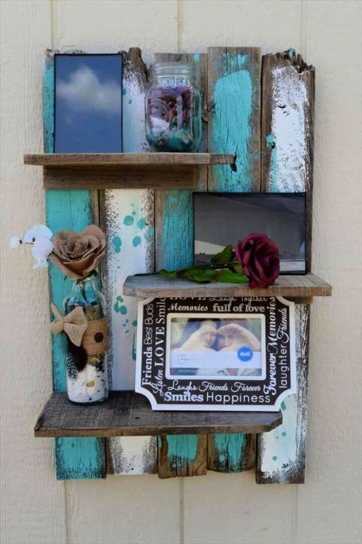 easy ideas, easy rustic display shelf, creative ideas, how to decor home