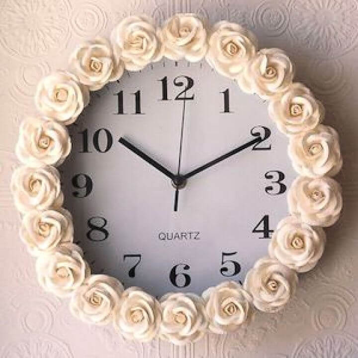 flower clock, room decor, teenage girls, crafts for teenage girls