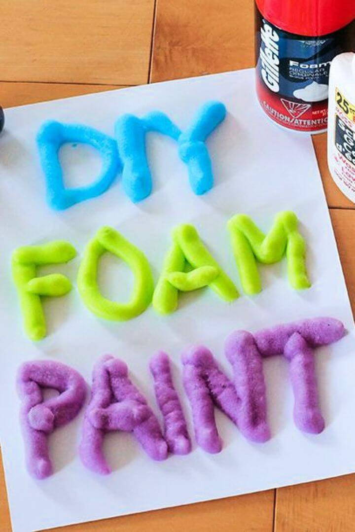 diy foam paint, crafts for kids, how to ideas, summer activities, kids summer enjoy