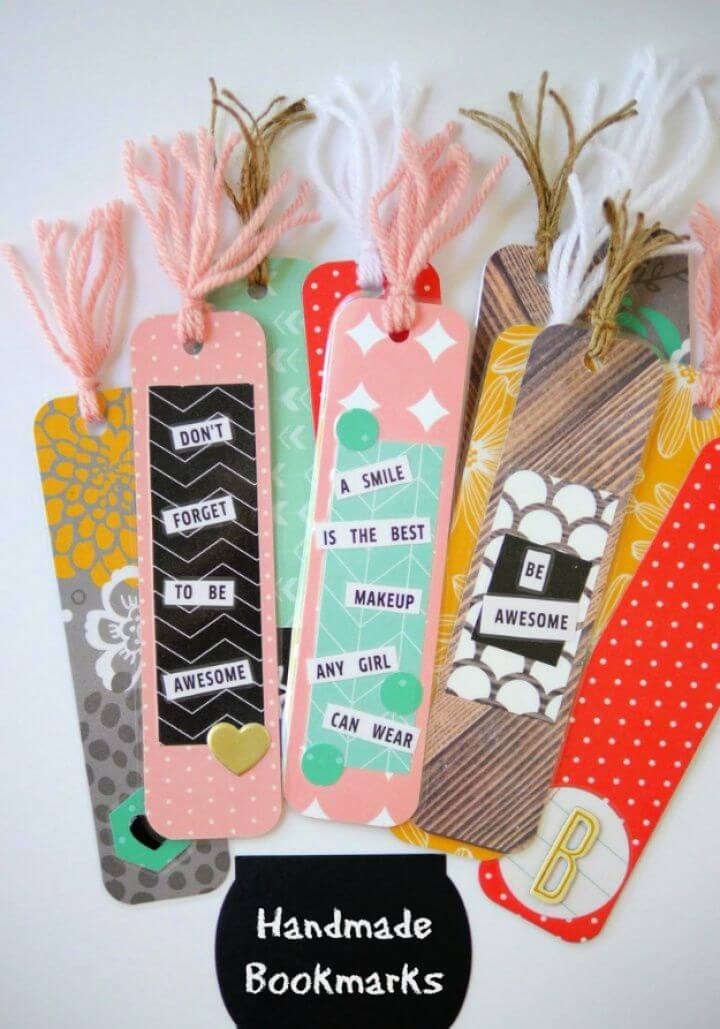 diy handmade bookmarks, handmade school ideas,