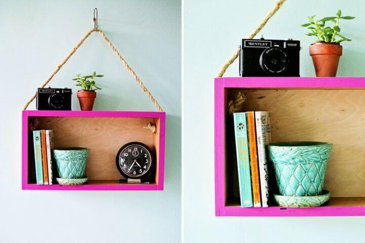 diy hanging shelf, for room decor, unique ideas, room decor unique, unique way to decor room, how to, decor