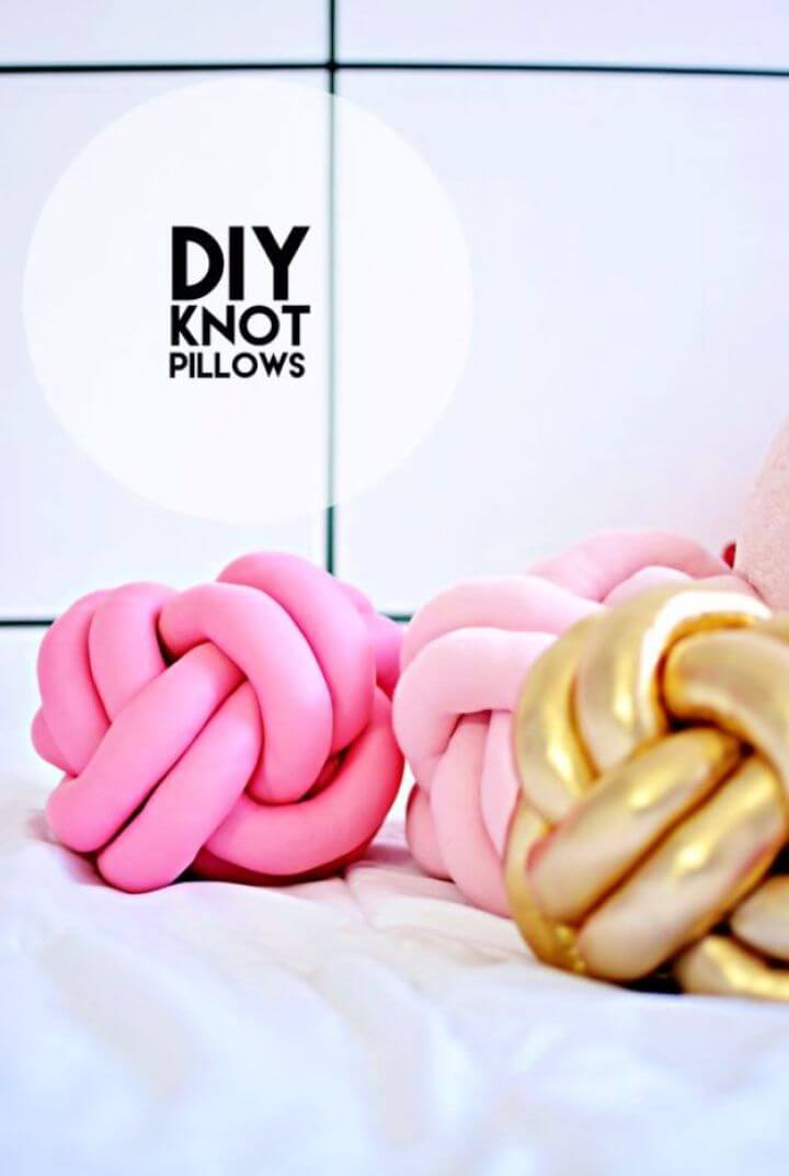 knot pillows, diy ideas, crafts to sell, crafts to make money,