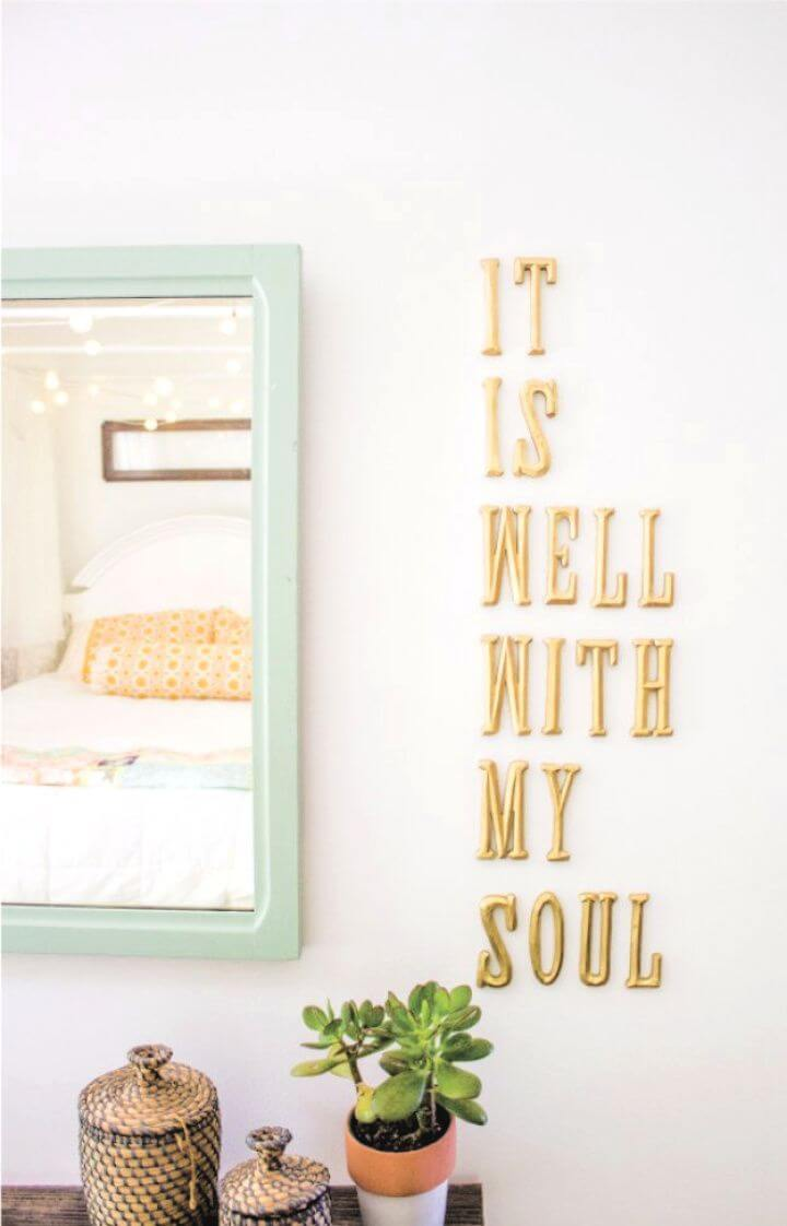 diy letters, wall decor, room wall decor, crafts for room