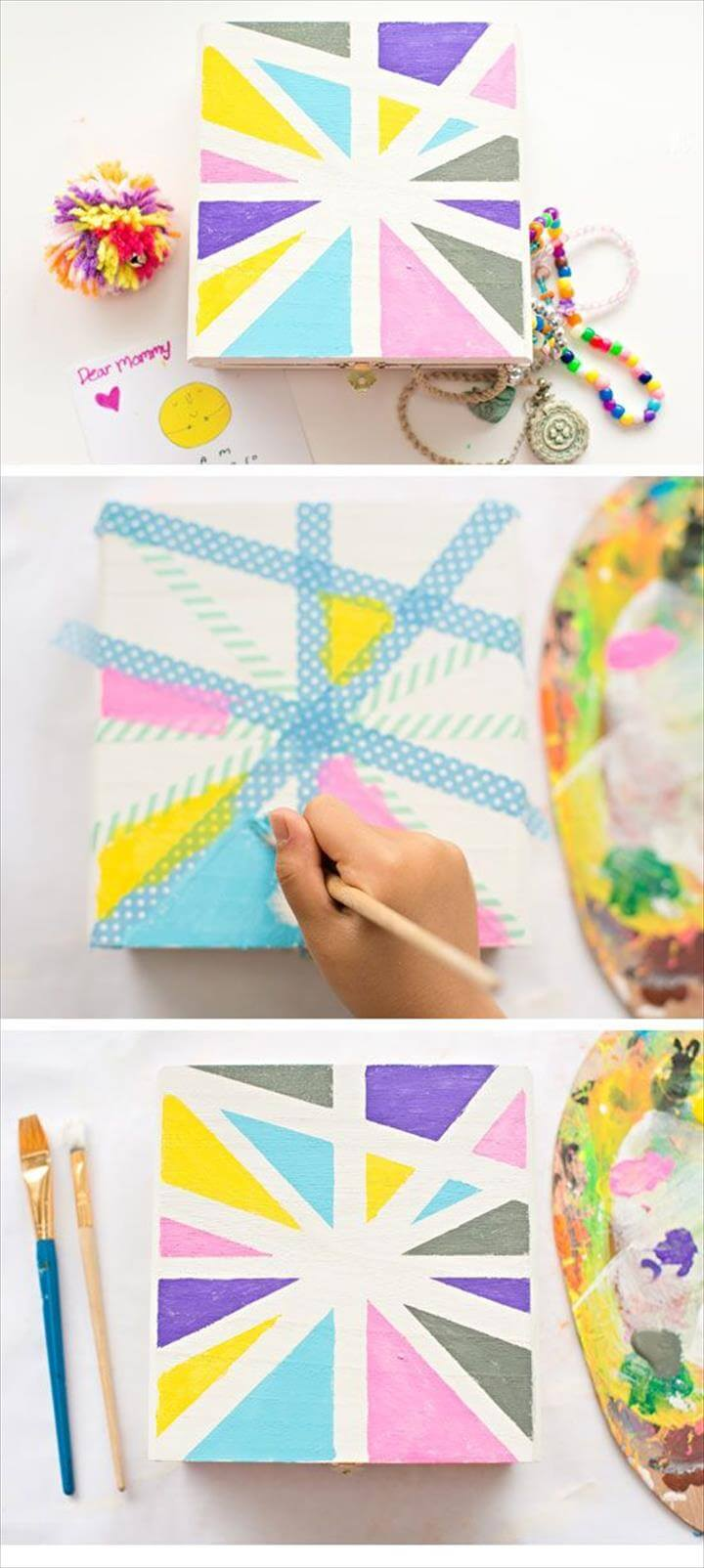 Diy Birthday Gifts For Mom, Diy Mothers Day Gifts, Mothers Day Crafts For Kids, Diy Bday Gifts For Mom, Awesome Birthday Gifts, Diy Birthday Box, Grandma Birthday, Easy Mother's Day Crafts, Crafts For Kids To Make,