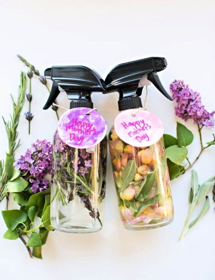 diy idea, mother dya, floral herb perfume, how to crafts