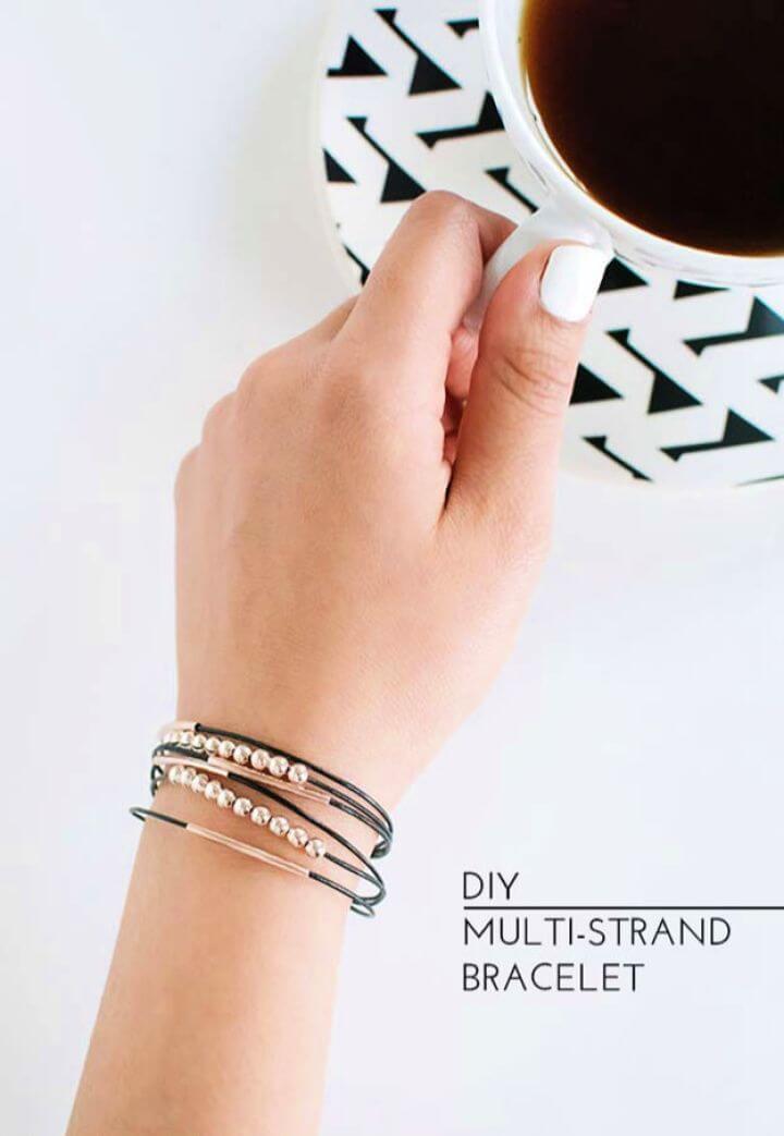 multi stranded bracelets, diy ideas, diy crafts,