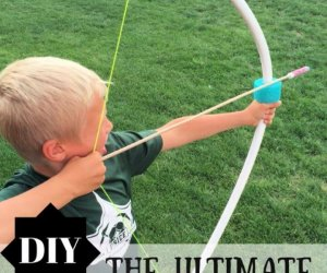 diy pvc bow, diy pvc arrow for kids, how to