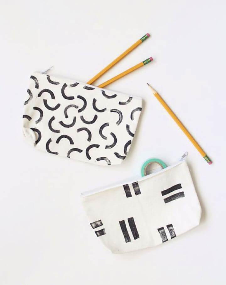 diy stamped pencil, pencil pouche ideas, diy creatives
