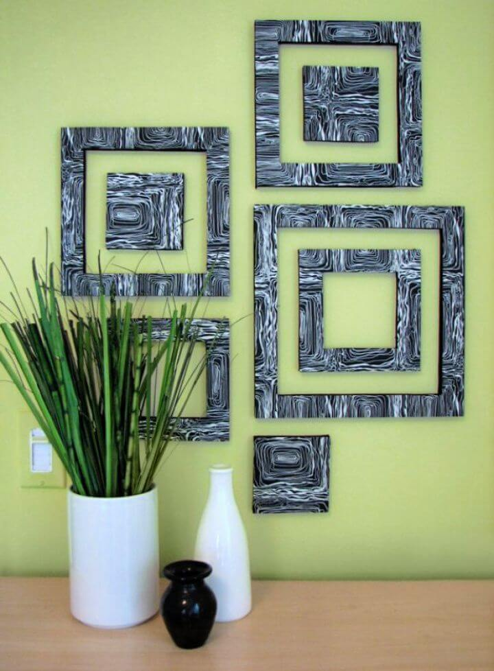 diy wall art, patterned, squares wall art, how to decor room