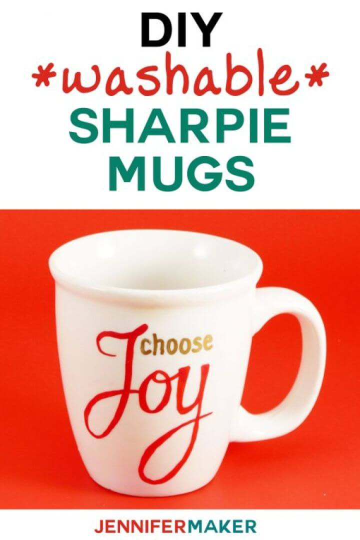 diy washable mugs, sharpie, mugs, coffee mug, do it yourself,