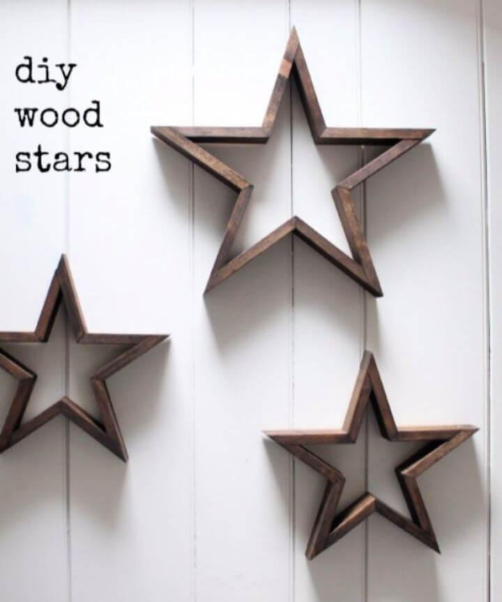 wood star diy, diy ideas, diy crafts and projects, creativediys