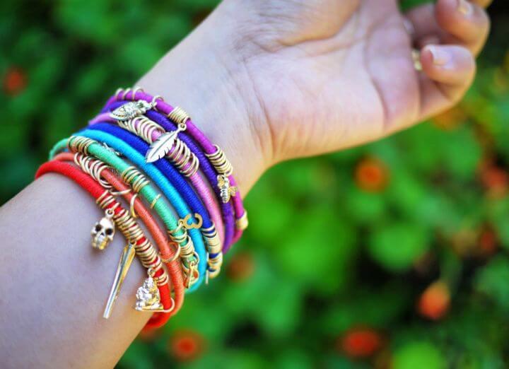 wrap bangles, diy bracelets, jewelry projects