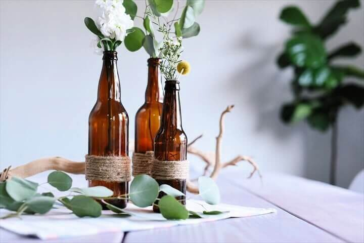 twine bottle, diy crafts, diy home decor, how to