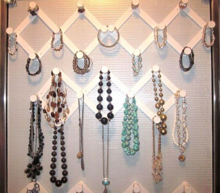 do it yourself, how to make, 5 minute crafts, jewelry storage ideas,