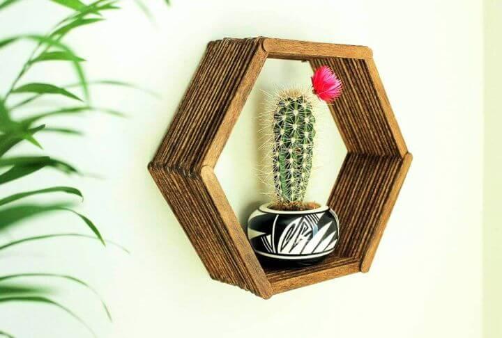 room decor, hexagon shelf, diy home decor ideas, diy crafts,