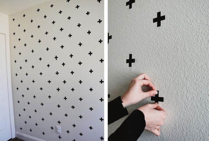 wall art, washi tape wall art, washi tape decals, diy ideas, diy crafts and projects