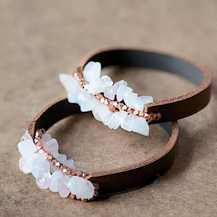 leather bracelets, chunky bracelets, easy bracelets