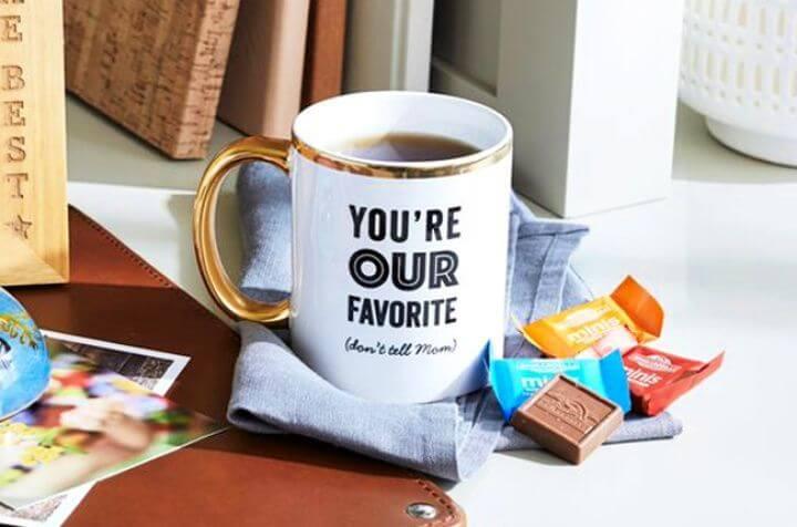 diy mug ideas, mug for father ideas, family photo ideas