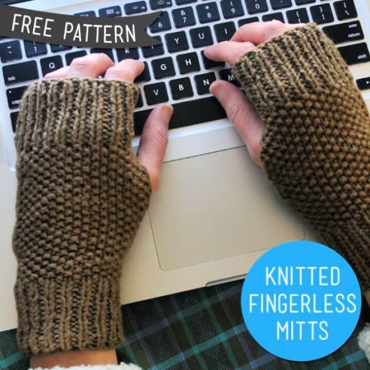 free knitting gloves, fingerless, gloves