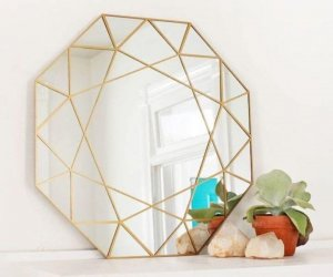 gem mirror, room decor, diy ideas, diy crafts