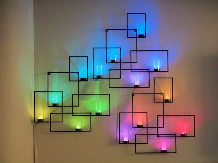 home decoration, geometric neon lights, wall art scones,