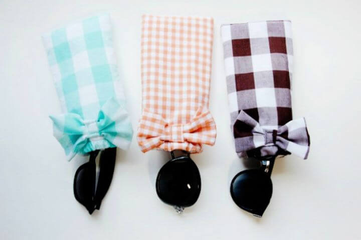 gingham style, sunglasses case, diy ideas