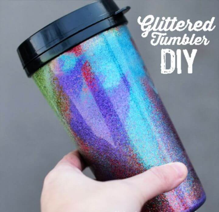 glittered tumbler, diy creative crafts, creative ideas, christmas creative crafts,