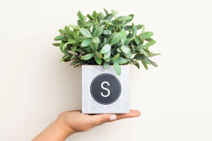herringbone cube, planter ideas, diy crafts ideas,