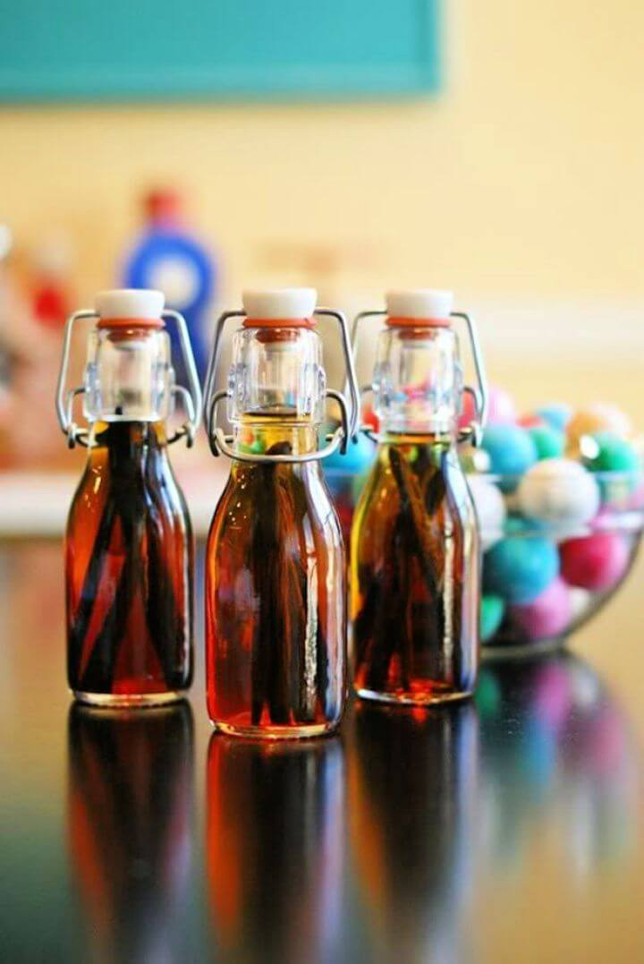 home made, gift vanilla, extract mason jars, creative mason jars