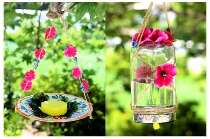 homemade, butterfly, feeder summer, creativediys