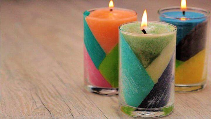 color block, crayon candles, crafts to make, and sell, how to crafts, christmas crafts