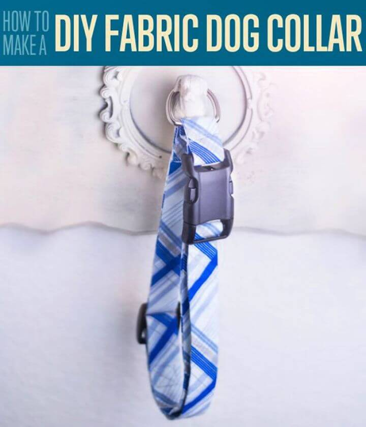 fabric dog collar, crafts to make, make and sell, how to ideas