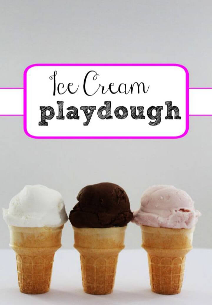 ice cream, playdough cones, for kids crafts, how to crafts,