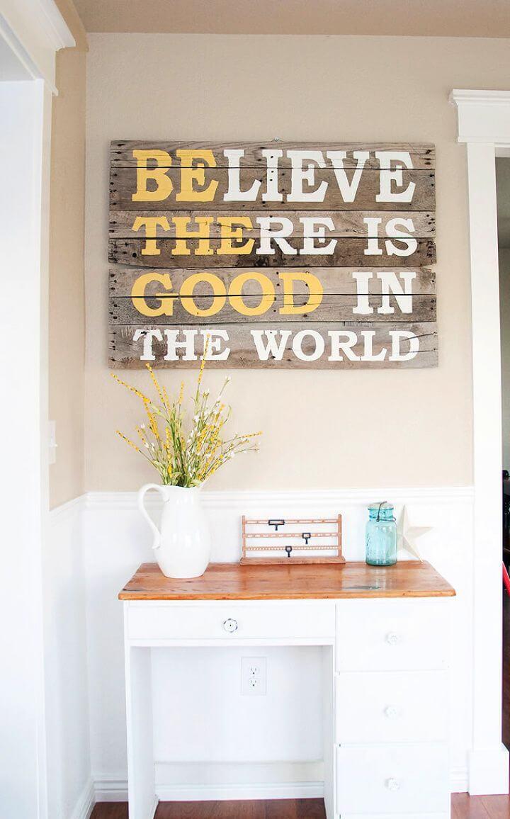 inspirational message rustic, board art, room board art,