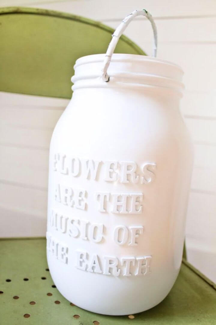 white mason jars, lettered mason jars, how to, make mason jars