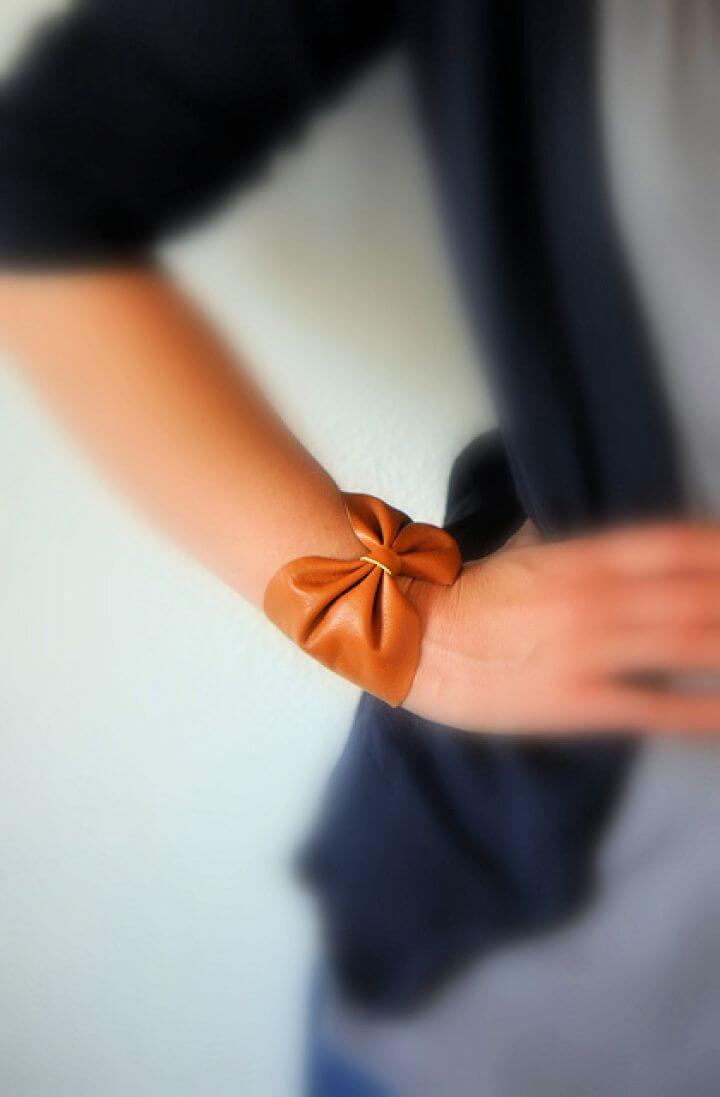 own leather bracelets, bow bracelets, diy bow ideas, diy projects