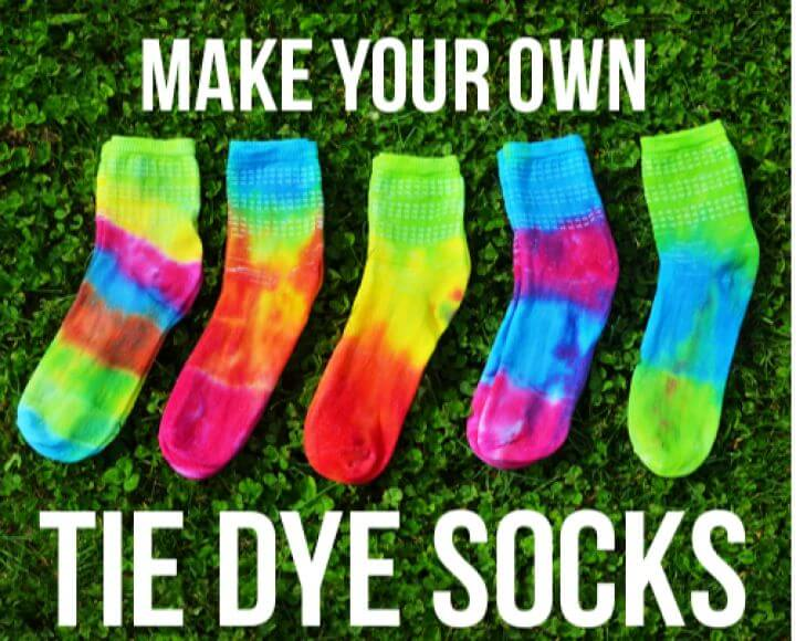tie dye socks, creative ideas, creative crafts, crafts for girls, how to crafts,