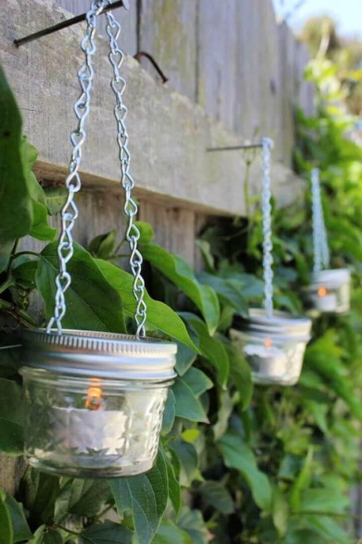 hanging mason jars, lanterns mason jars, cool mason jars, crafts mason jars