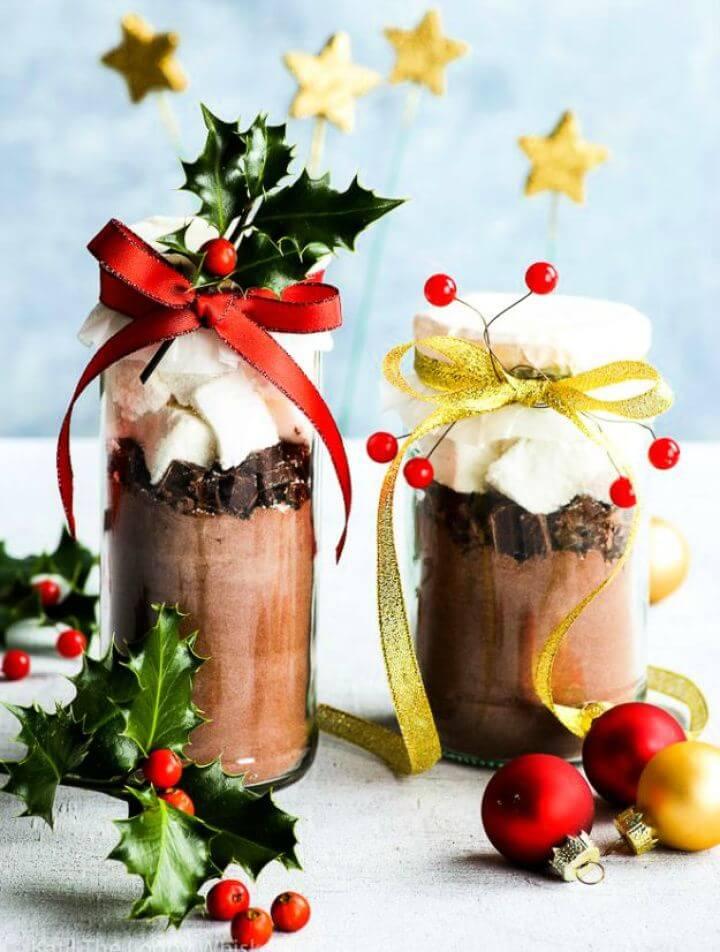 mason jars, hot mason jars, chocolate gift jars, mason jars, diy crafts and projects