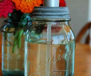 mason jar soap, dispenser cool, mason jars, craft you can at home,